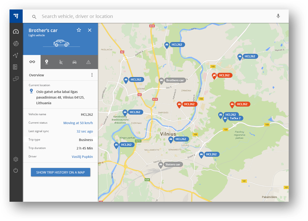 Modernised interface overview