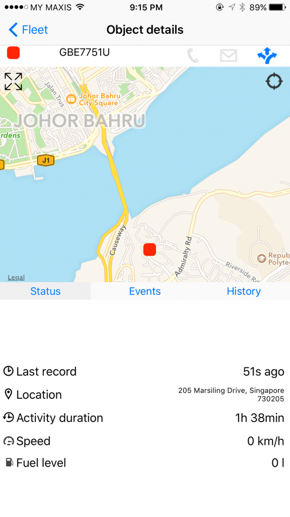 Track with PocketTrack, a customised smartphone App for iOS/Android devices